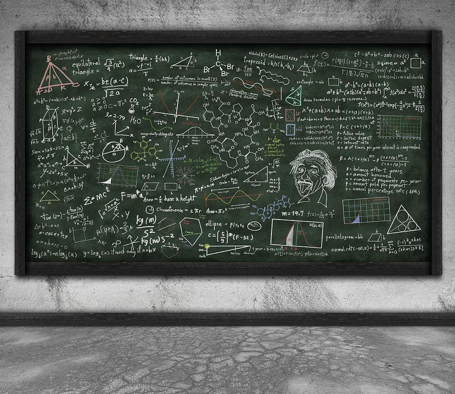 Maths Formula On Chalkboard Photograph