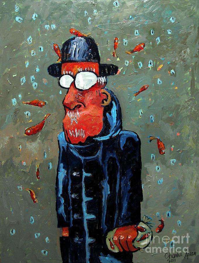 Matisse Juggling Fish In The Rain In His Brain Painting