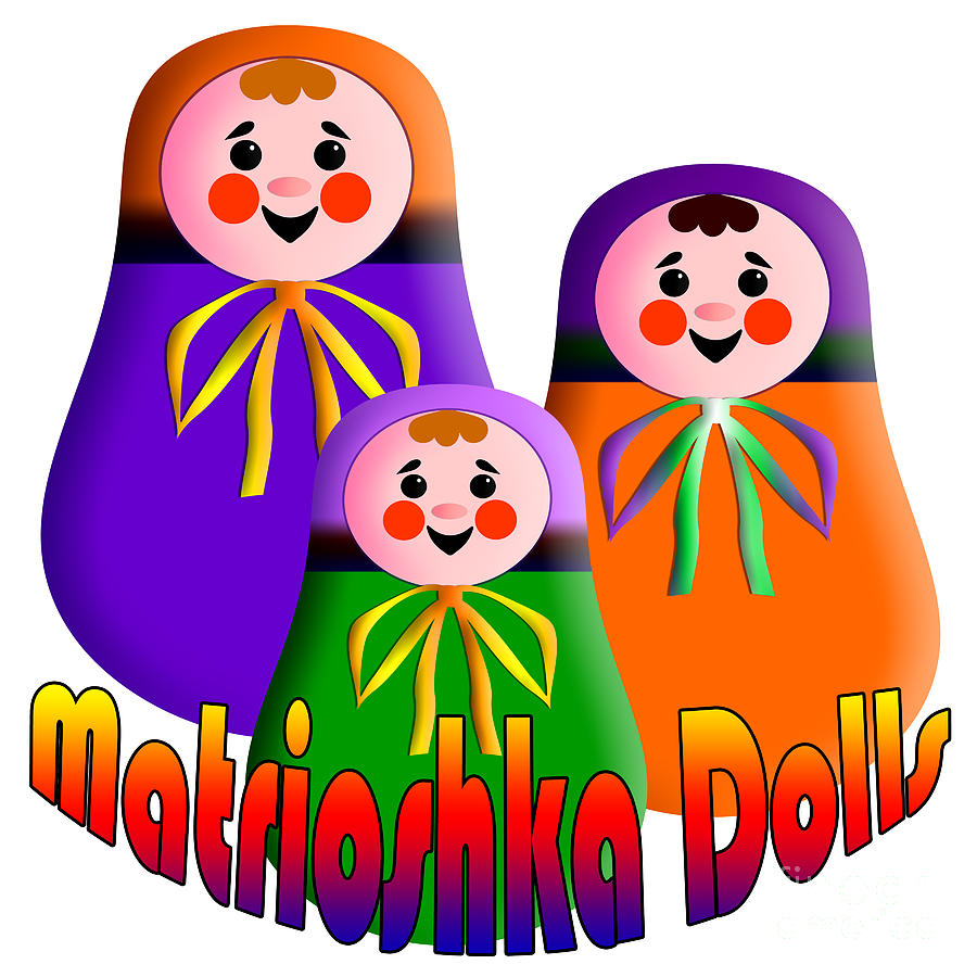 Matrioshka Dolls Digital Art