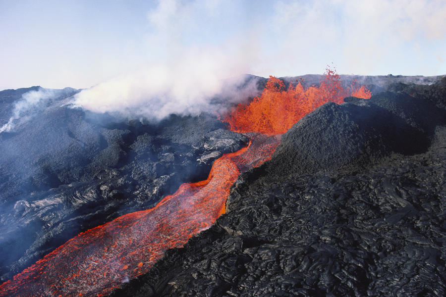 Mauna Loa Eruption Photograph
