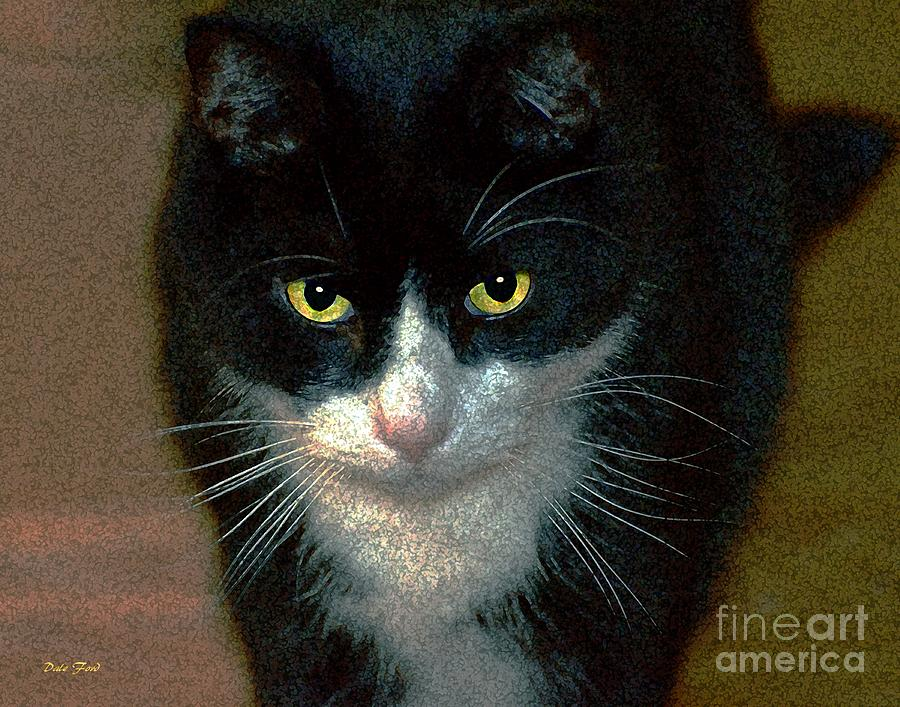 Cats Digital Art - Max by Dale   Ford