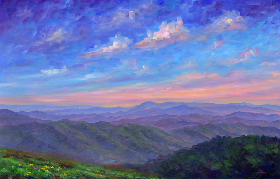 Max Patch North Carolina Painting  - Max Patch North Carolina Fine Art Print