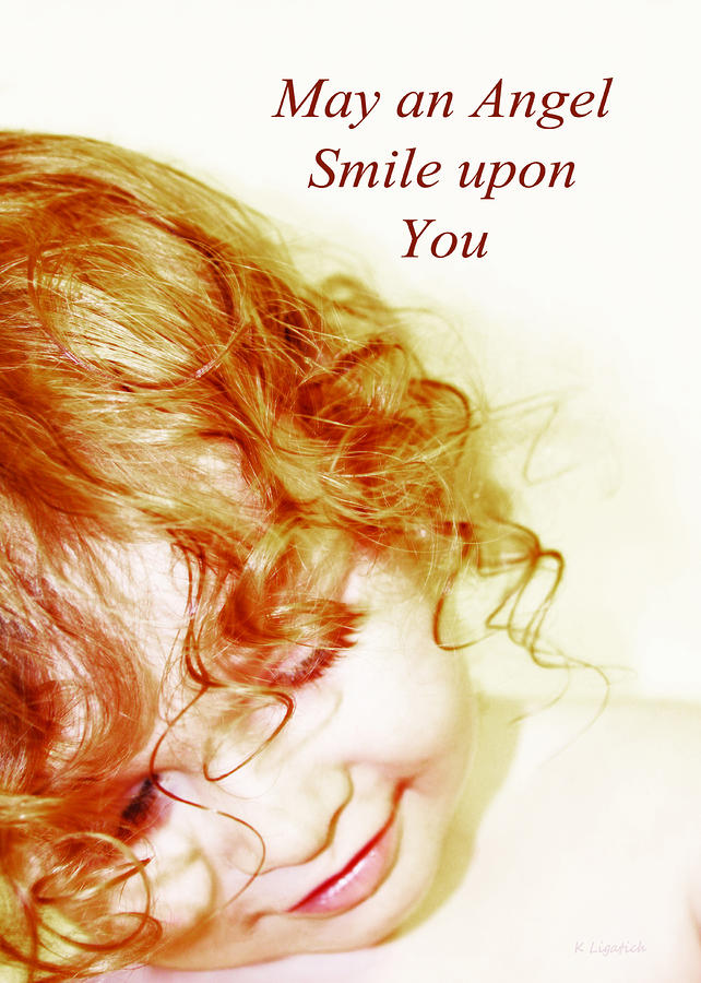 May An Angel Smile Upon You - Greeting Card And Print Photograph