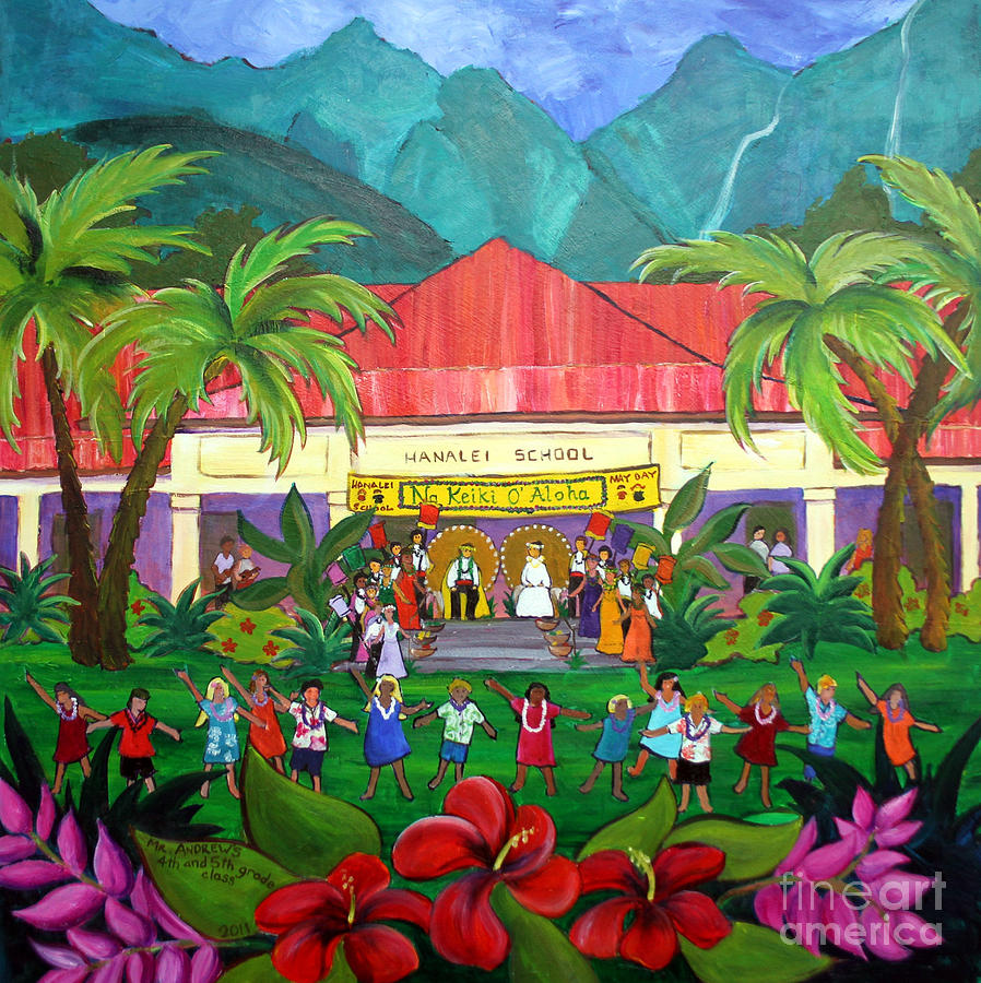 May Day At Hanalei Painting