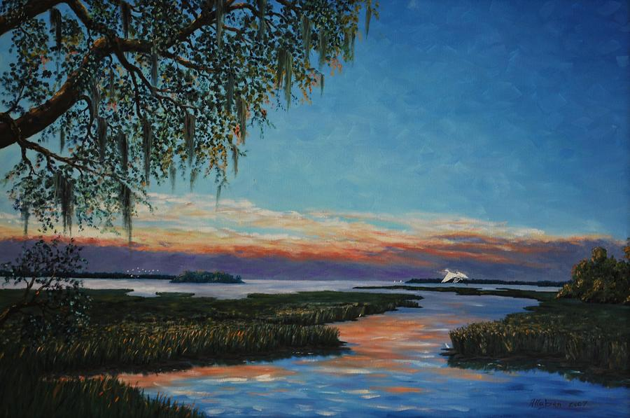May River Sunset Painting  - May River Sunset Fine Art Print