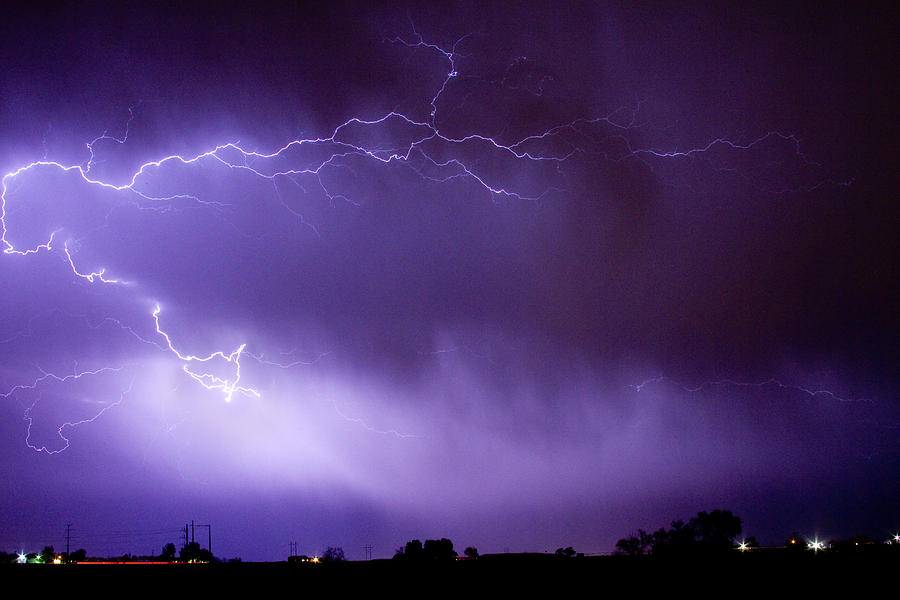 May Showers 2 In Color - Lightning Thunderstorm 5-10-11 Boulder Photograph