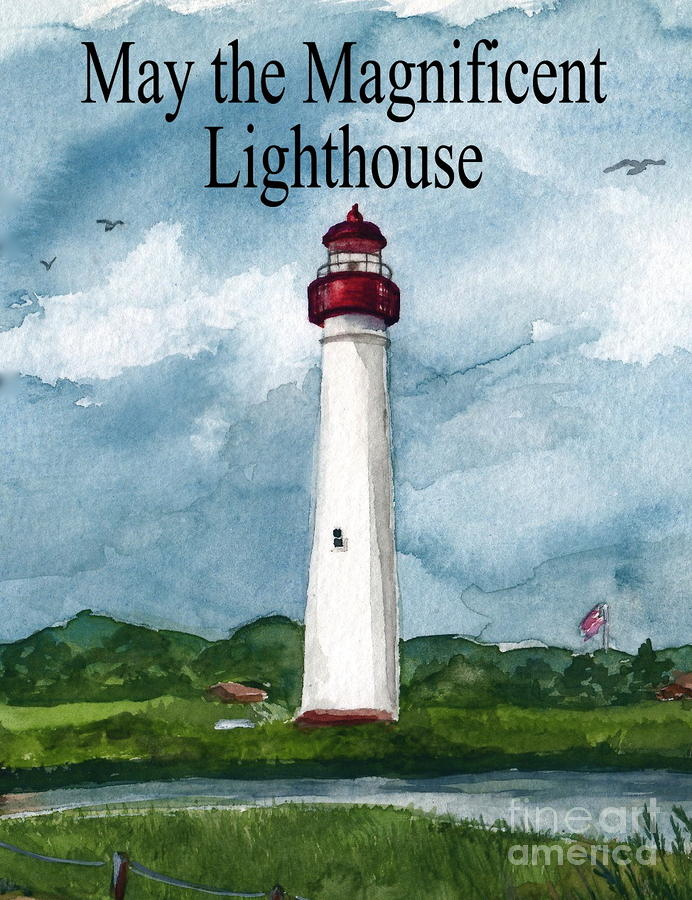 May The Magnificent Lighthouse  Painting