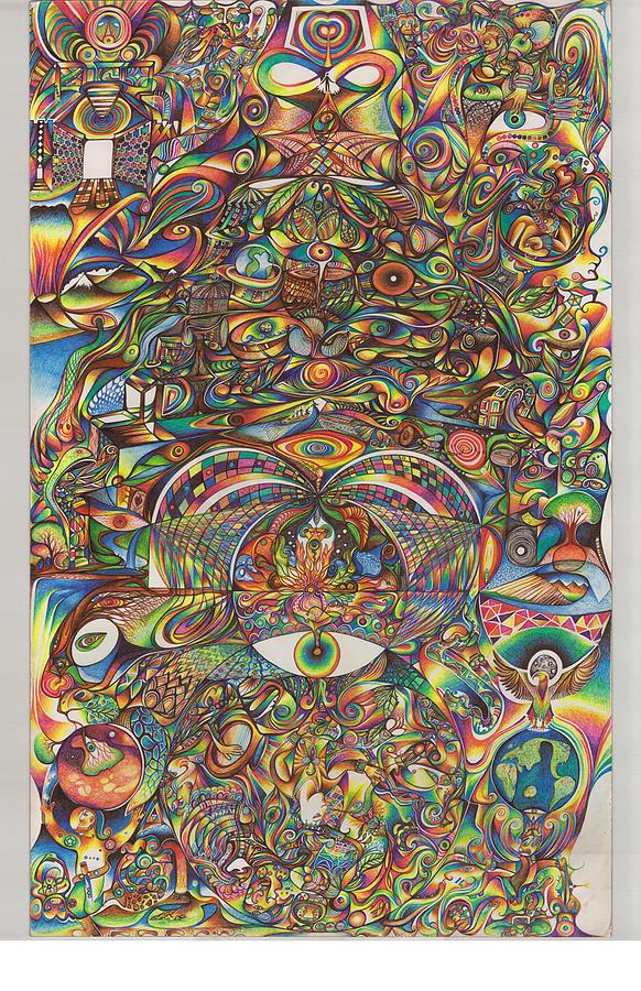 Maya Drawing - Maya Creation by Jonathan DiNo DiNapoli