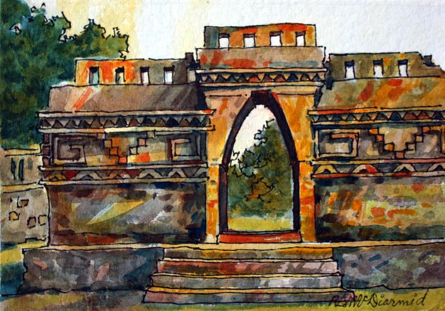 Mayan Ruins Painting