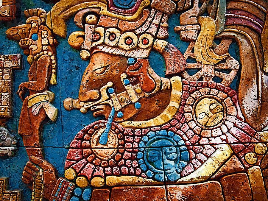 Mayan warrior by nora martinez