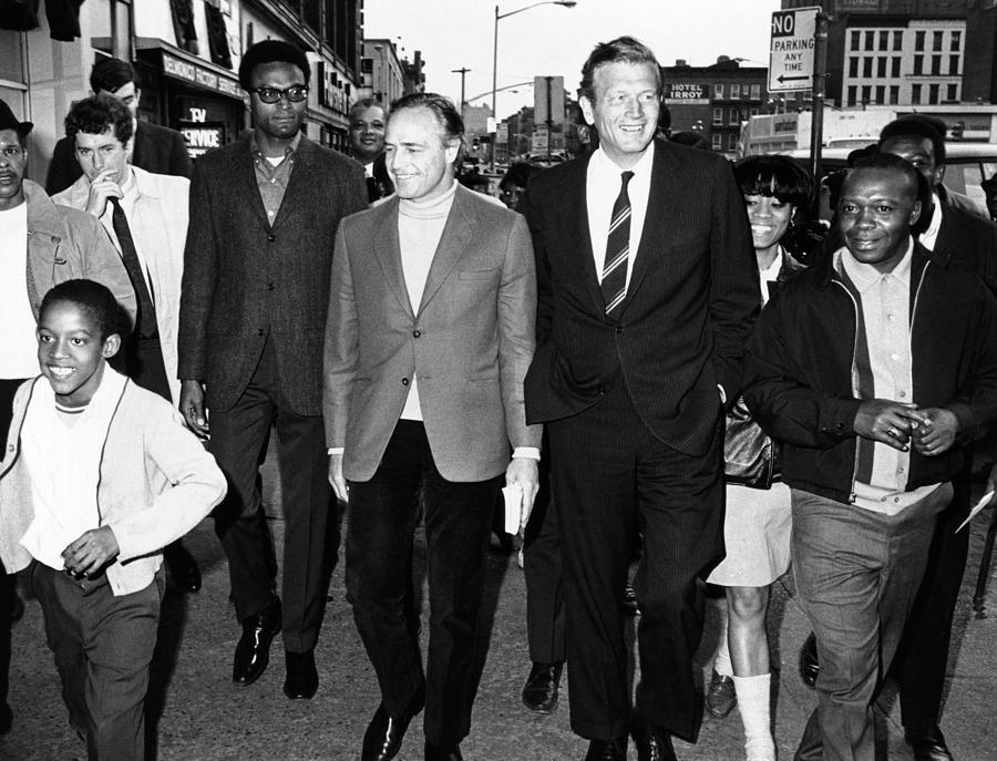 Mayor John Lindsay And Actor Marlon Photograph