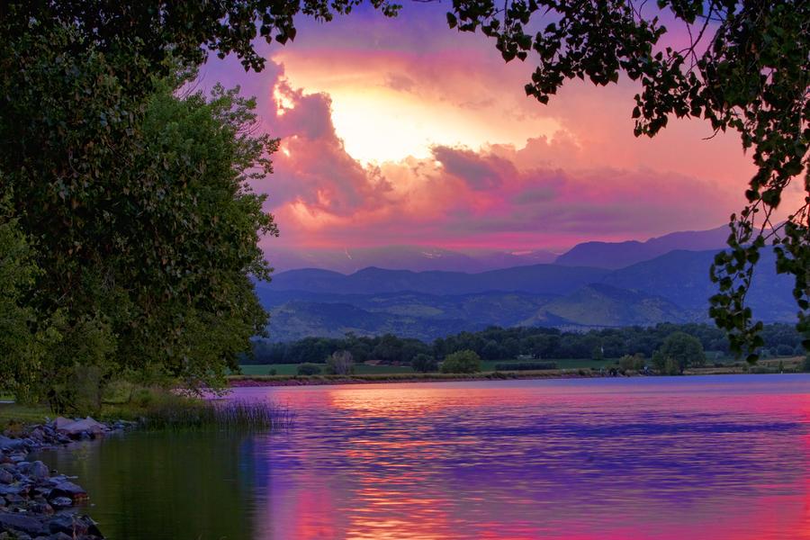 Mcintosh Lake Sunset Photograph