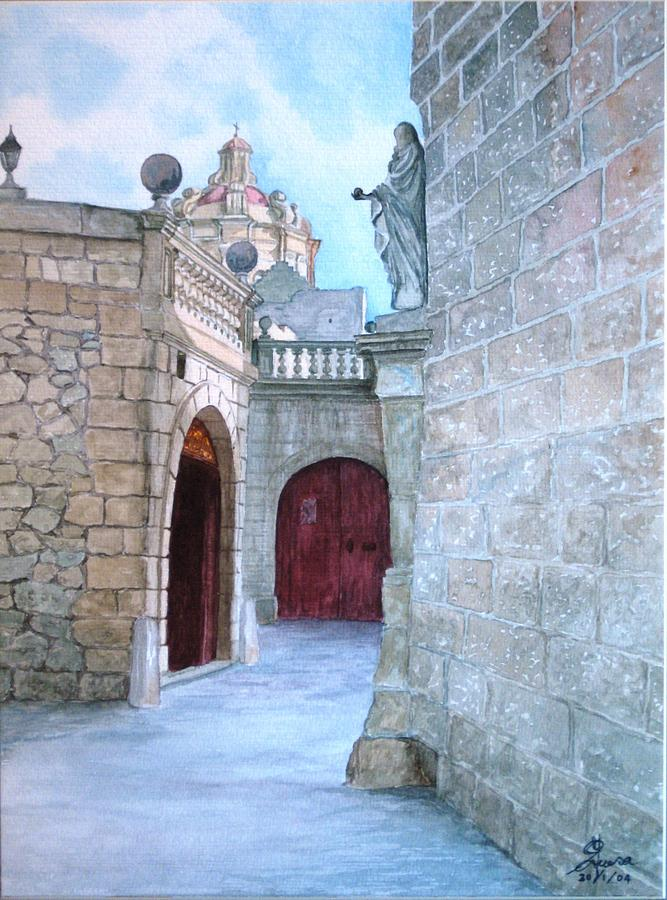 Mdina The Old City Painting  - Mdina The Old City Fine Art Print