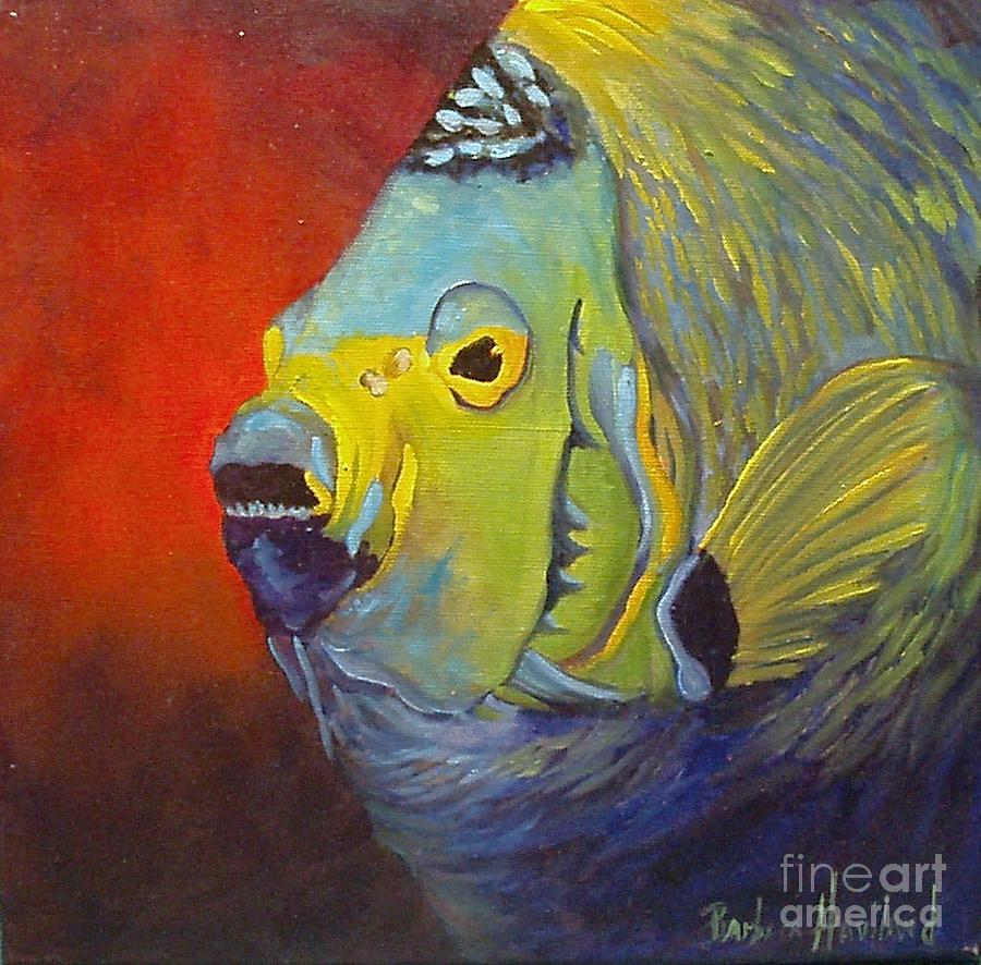 Mean green fish painting by barbara haviland for What does it mean to dream about fish