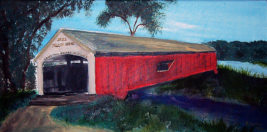 Mecca Covered Bridge Painting