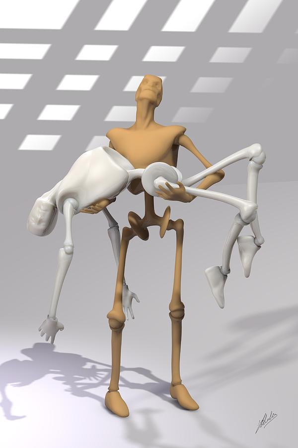 Mechanical Piety Digital Art