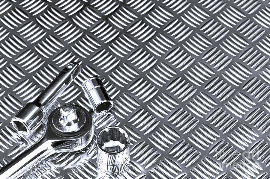 Mechanical Photograph - Mechanical Socket Background by Richard Thomas