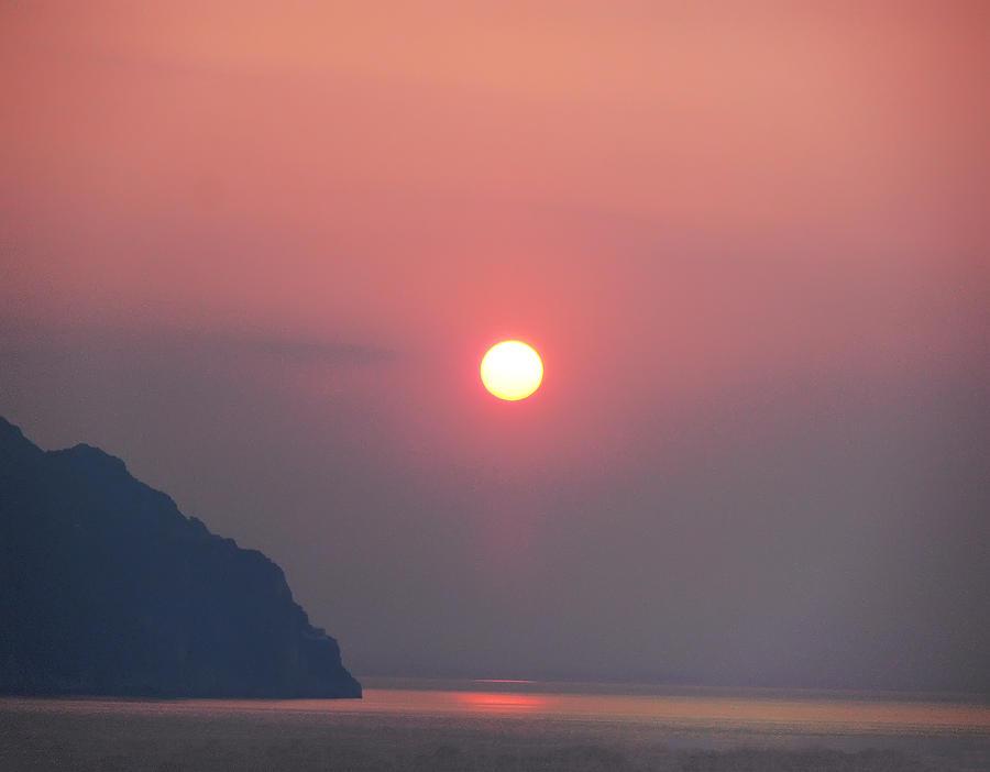 Medaterainian Sunset Photograph - Medaterainian Sunset by Bill Cannon