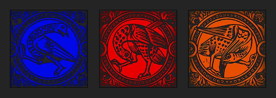 Mediaeval Bird Revision Digital Art