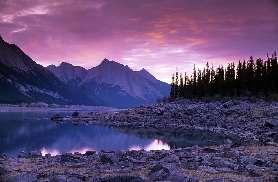 Medicine Lake Jasper National Park Photograph By Darwin