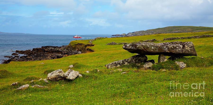 Megalithic Tomb At Cleggan Bay Photograph