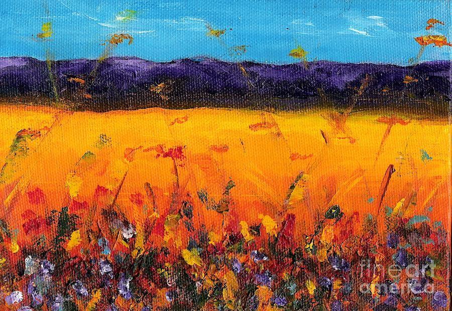 Melissas Meadow Painting  - Melissas Meadow Fine Art Print