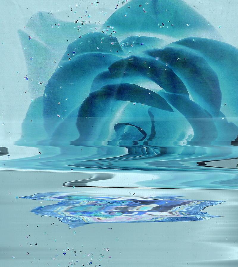 Melting Blue Rose  Painting