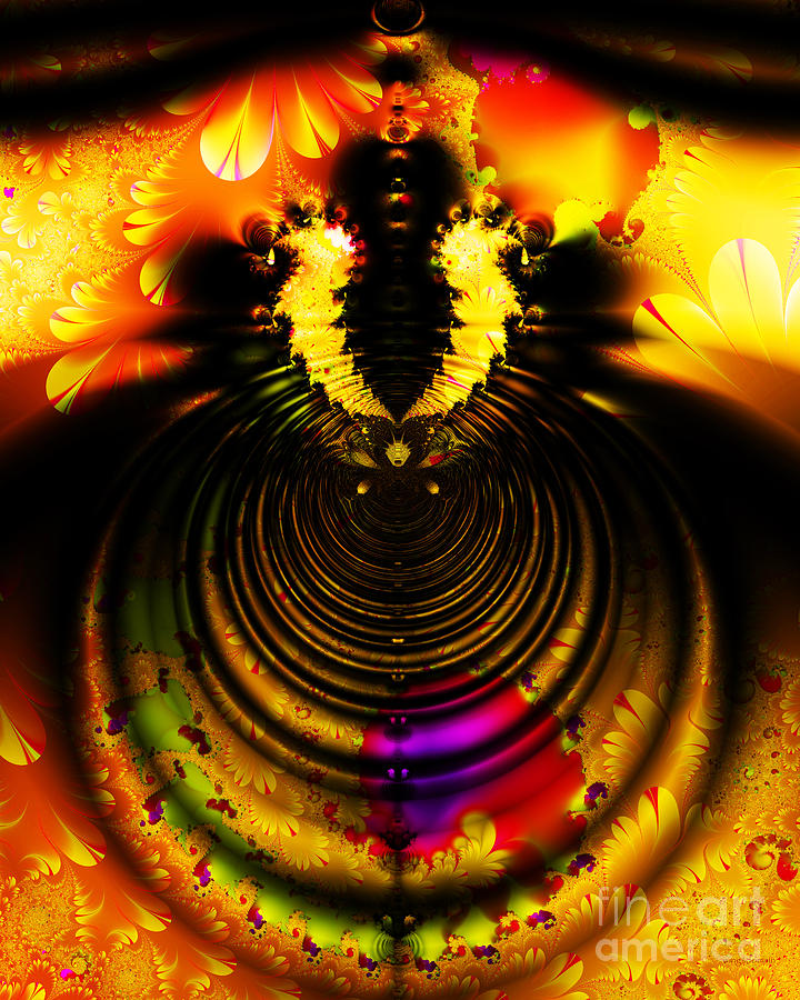Melting Pot . Gold . S8a.s11 Digital Art  - Melting Pot . Gold . S8a.s11 Fine Art Print