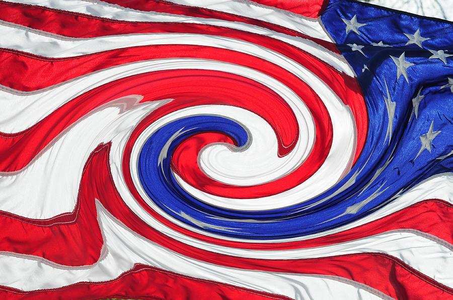 Flag Photograph - Melting Pot by Wanda Brandon