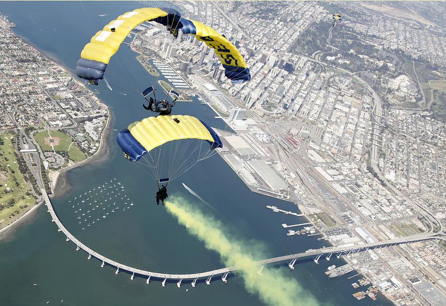 Members Of The U.s. Navy Parachute Team Photograph