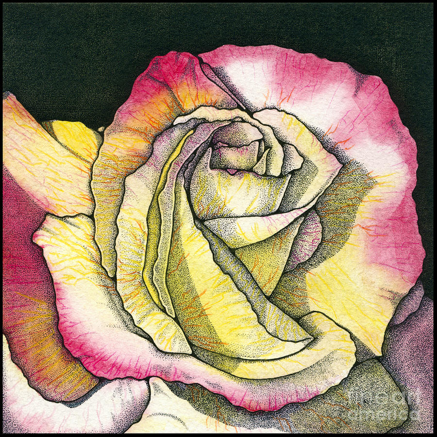 Rose Painting - Memories by Nora Blansett