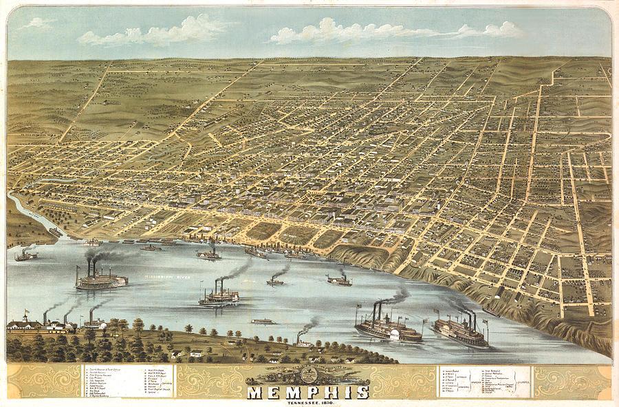 Memphis Tennessee 1870 Digital Art