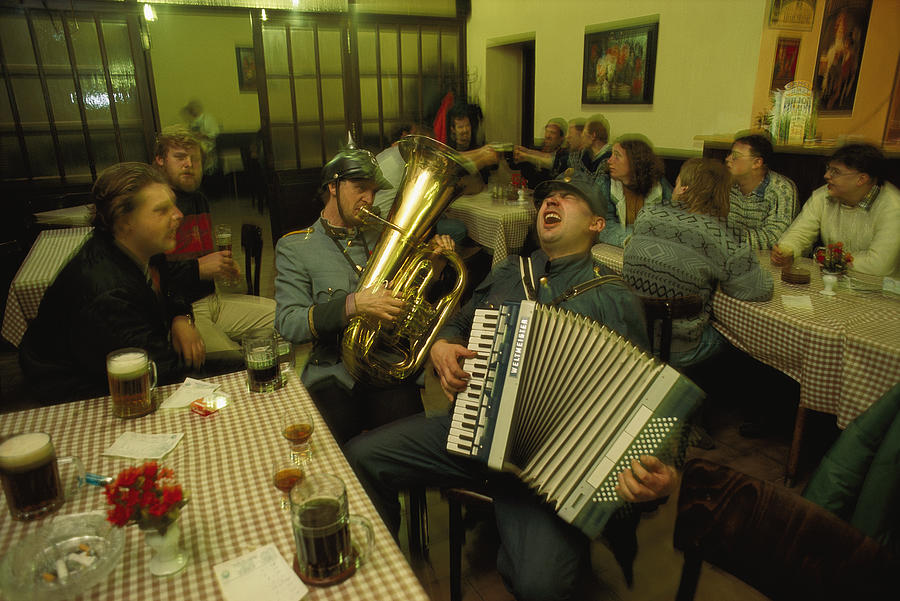 Men Sing Satirical Songs Of Austrias Photograph  - Men Sing Satirical Songs Of Austrias Fine Art Print