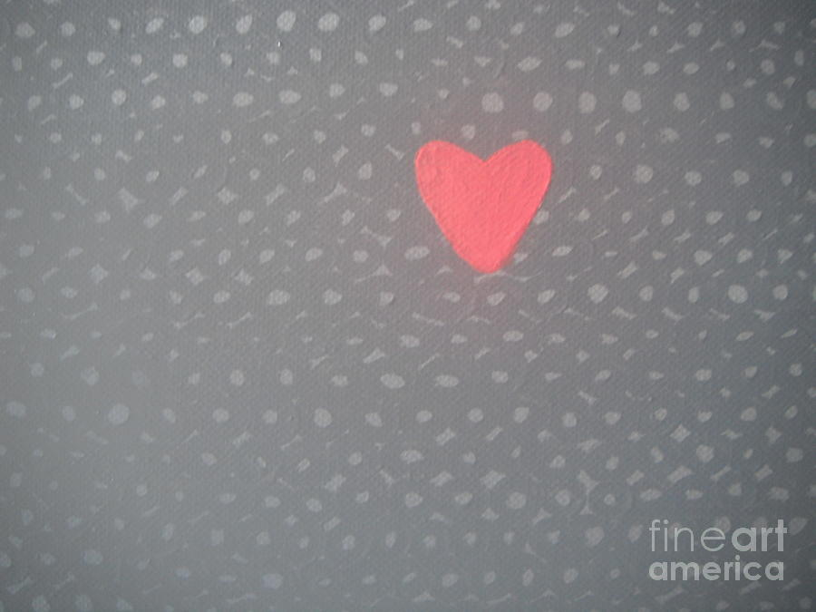 Mending The Holes In My Heart Painting  - Mending The Holes In My Heart Fine Art Print