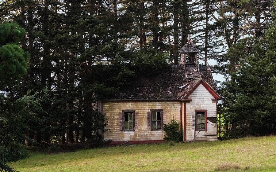 Mendocino Schoolhouse Photograph