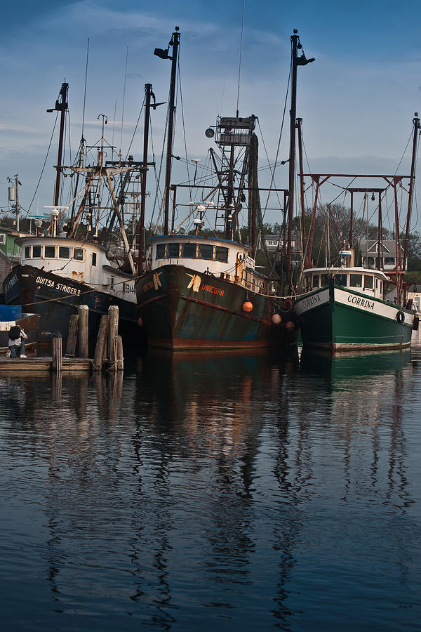 Menemsha Village Fishing Boats Photograph  - Menemsha Village Fishing Boats Fine Art Print