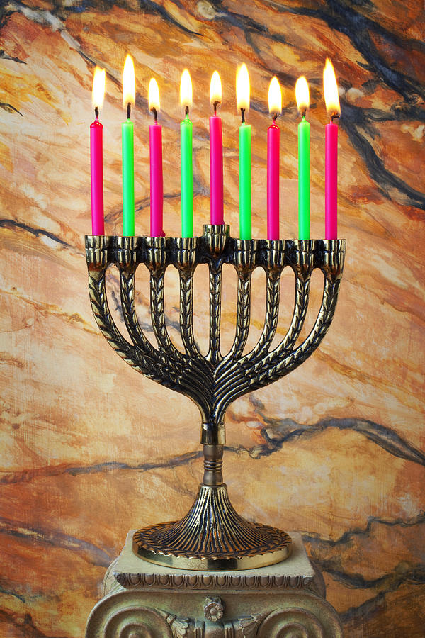 Menorah Photograph  - Menorah Fine Art Print