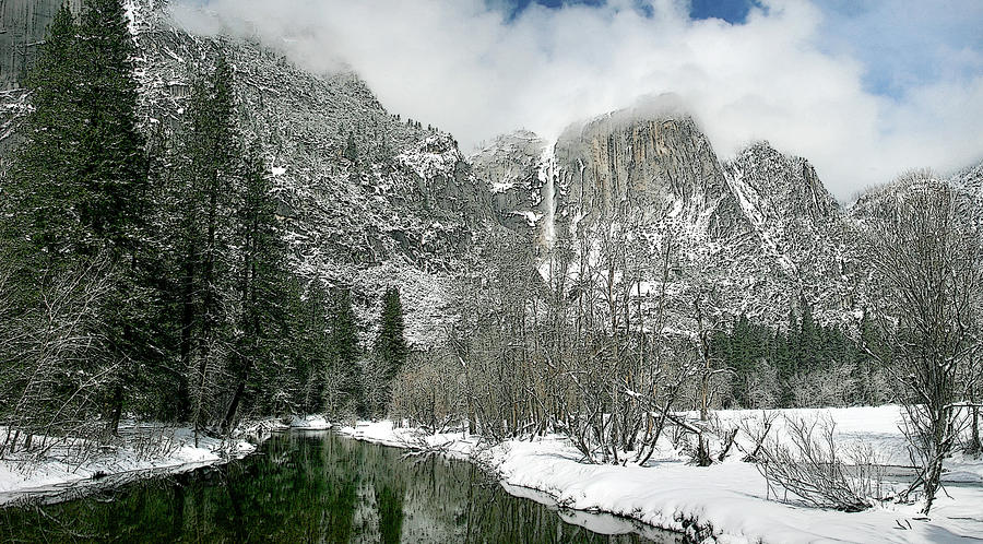 Merced yosemite falls winter california landscape art by for Landscaping rocks merced ca