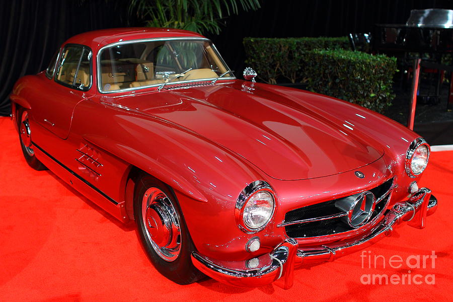 Mercedes 300sl . Red . 7d9172 Photograph  - Mercedes 300sl . Red . 7d9172 Fine Art Print