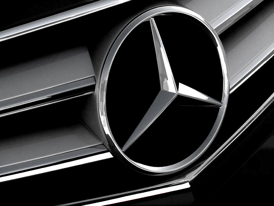 Mercedes Badge Digital Art  - Mercedes Badge Fine Art Print