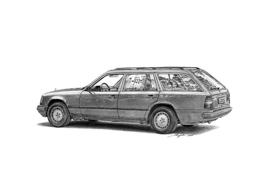 Mercedes-benz E-class Wagon Drawing