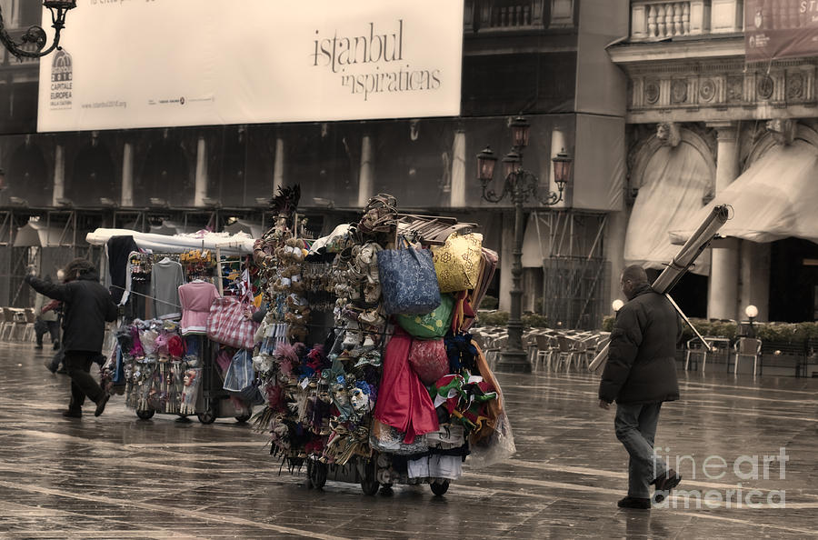 Merchants In Venice 2 Photograph