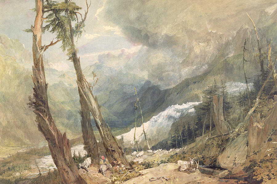 Mere De Glace - In The Valley Of Chamouni Painting