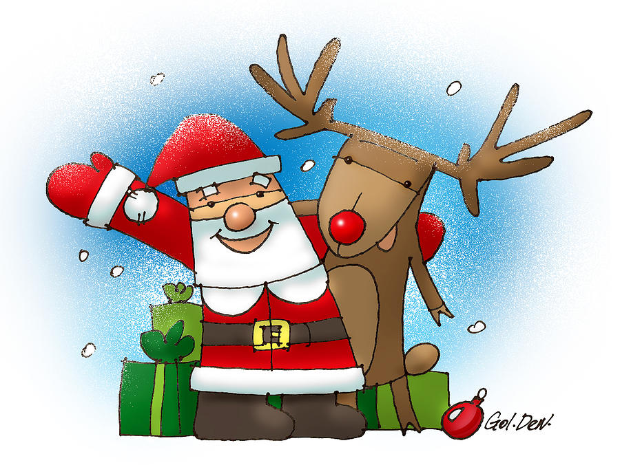 Merry Christmas Drawing  - Merry Christmas Fine Art Print