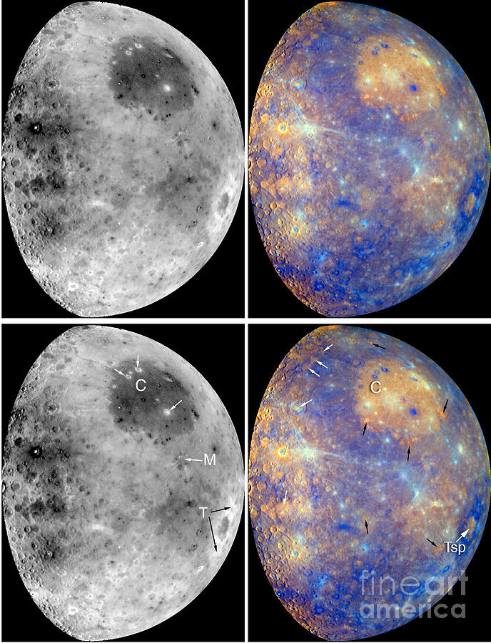 Messenger Spacecraft Photograph - Messenger Image Of Mercury by Nasa
