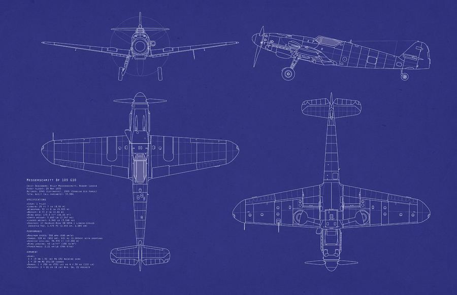 Messerschmitt Me109 Digital Art