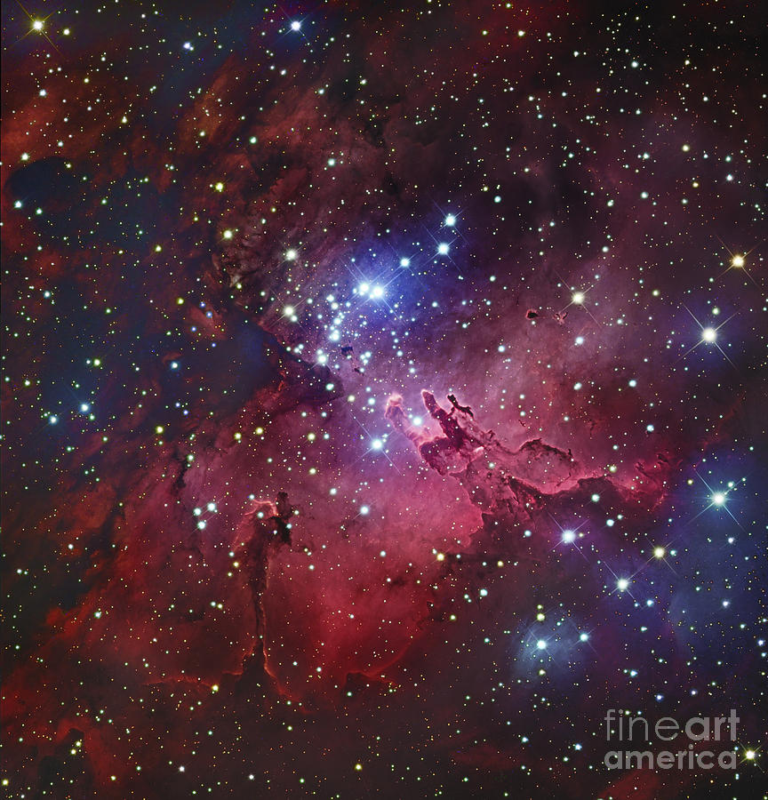 Messier 16, The Eagle Nebula In Serpens Photograph