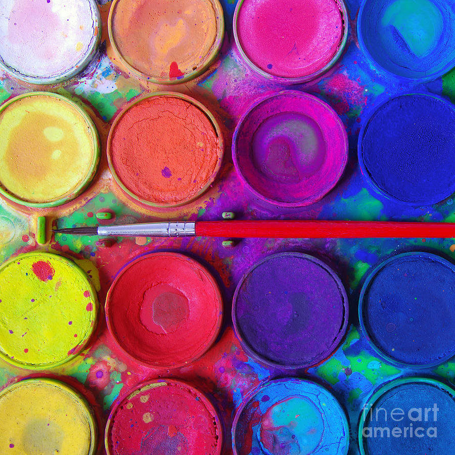 Messy Paints Photograph  - Messy Paints Fine Art Print