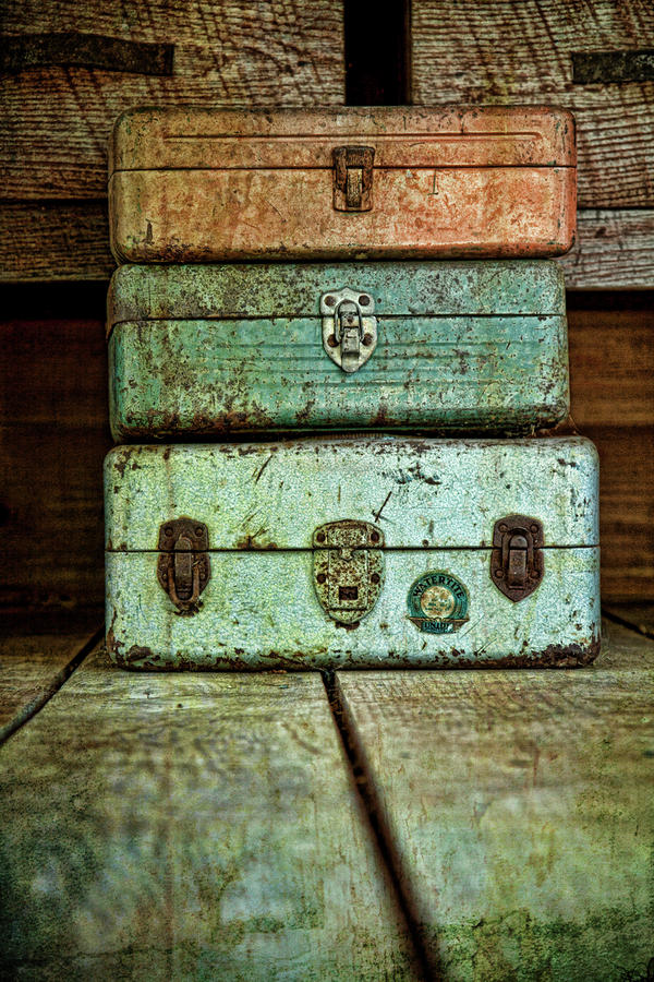Metal Boxes Photograph  - Metal Boxes Fine Art Print
