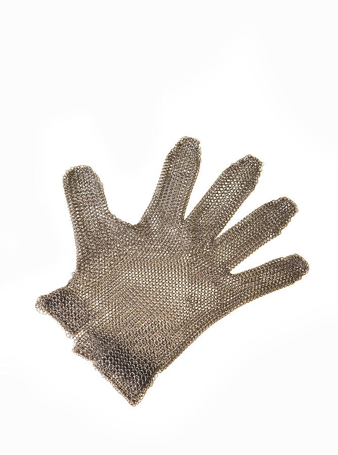 Metal Mesh Glove Photograph  - Metal Mesh Glove Fine Art Print